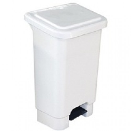 LIXEIRA C/PEDAL 100 LT BRANCA 261 MARFINETE LAR PLASTICO